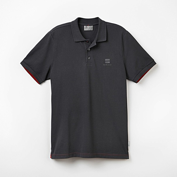 Poloshirt heren antraciet