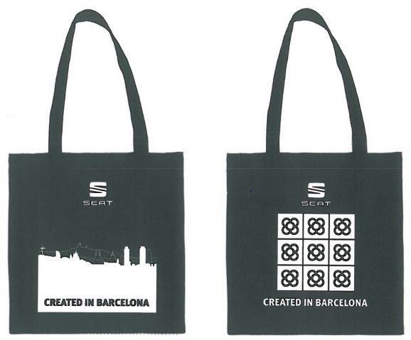 Created in Barcelona stoffen tas