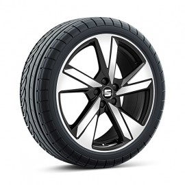 SEAT Ibiza, 18 inch zomerset 5-spaaks 'Diamond Cut Black'