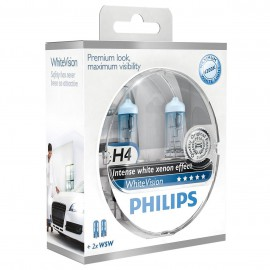 Philips White Vision H4 lampenset